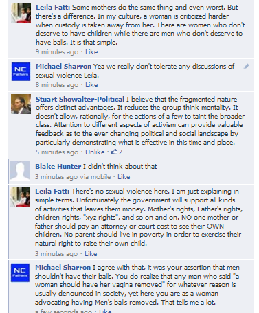 woman discusses removing mens balls