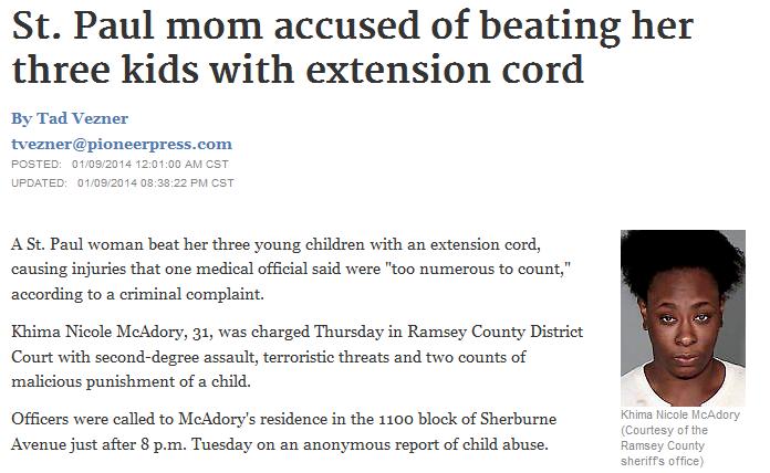 beat her kids
